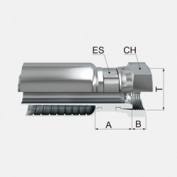 Cofan 06090175 Reducci/ón Macho-Hembra 22 x 1.5 mm